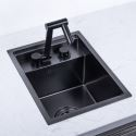 Invisible Kitchen Sink Stainless Steel Single Bowl Sink with Tap 3243