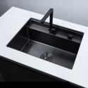 Invisible Kitchen Sink Stainless Steel Single Bowl Sink with Tap 5845