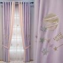 Modern Curtain Little Star Embroidery Curtain (One Panel)