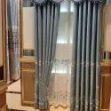Flannel Curtain Minimalist Floral Embroidered Window Curtain (One Panel)