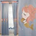 Modern Curtain Mermaid Embroidery Lovely Curtain (One Panel)