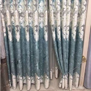 Modern Curtain Embroidery Decorative Curtain (One Panel)