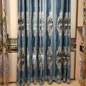 Home Curtain European Style Floral Embroidery Curtain (One Panel)