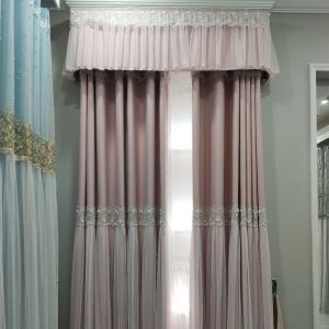 Romantic Curtain Fabric Lace Embroidered Curtain (One Panel)