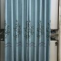 Modern Curtain Plant Embroidered Curtain Living Room (One Panel)