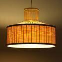 Chinese Style Bamboo Weave Pendant Light Single Light Fixture ZSD045