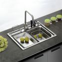 Single Bowl Stainless Steel Kitchen Sink Topmount S4939 18in (Faucet Not Included)