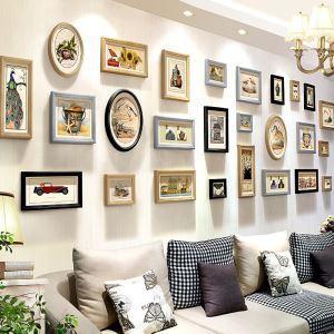 Modern Minimalist Photo Wall Decoration Photo Frame  Solid Wood Combination Photo Frame