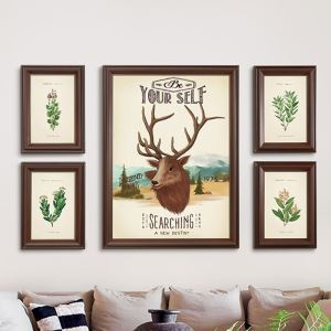 Modern Picture Frame 5pcs Set Solid Wood Staircase Photo Frame Set