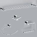 EleganceSolid Brass 4-piece Bathroom Accessory Set B(0605-0401+0407+0405+0411)