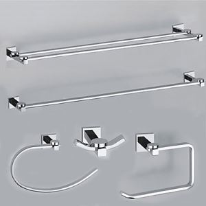 Elegance Solid Brass 5-piece Bathroom Accessory Set(0605-0401+0407+0405+0411+0410)