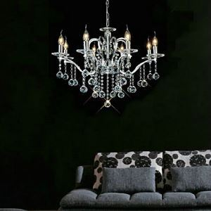 Silver Crystal Chandelier Chrome Fixture Ceiling Light with 8 Lights