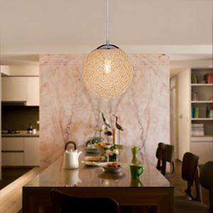 Globe Shaped 1 Light Pendant Light (Dia 9.8)