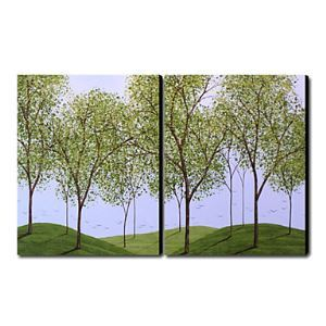 Hand-painted Oil Painting Landscape Oversized Landscape Set of 2
