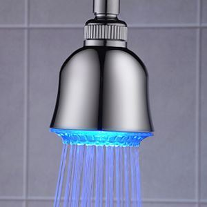 LED Handheld Shower Head 3 inch ABS Color Changing Shower Head