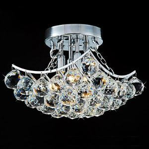 Modern 4 - Light Flush Mount Lights with Crystal Drops