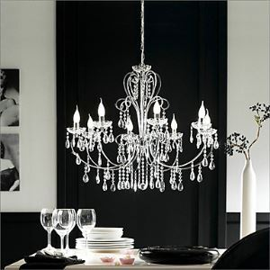 Modern Candle Featured Crystal Chandeliers with 8 Lights