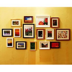 Modern Photo Wall Frame set Collection-Set of 15 PM -15A b(Pictures Not Included)