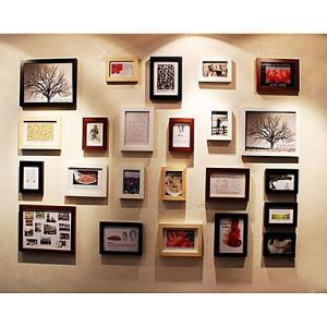 Modern Photo Wall Frame set Collection-Set of 23 PM-23A(Pictures Not Included)