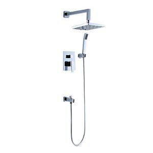 Rainfall Chrome Wall-mount Shower Faucet 0572-DS-6107