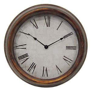 Retro Metal Wall Clock 14.5'