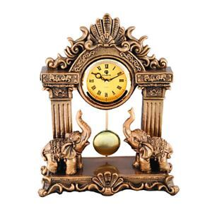 "Retro Style Elephant Tabletop Clock 15"""