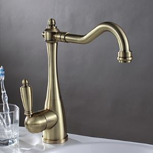 Antique Brass Finish Kitchen Faucet