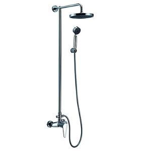 Single Handle Rain Chrome Wall-mount Shower Faucet (0609 - 13030 00)