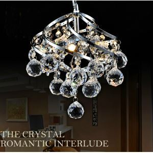 Crystal Pendant Lighting 1- light Mini Sparkling Crystal Contemporary Ceiling Light