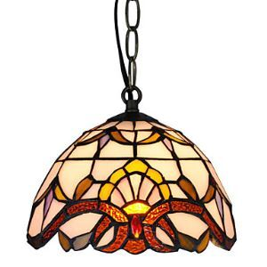 Tiffany Pendant Light with 1 Light Electroplate Finished