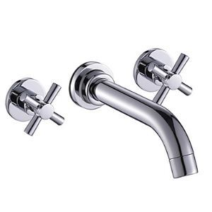 Widespread Bathroom Sink Faucet Wall Mount Basin Tap