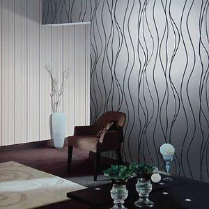 Venus Contemporary Curve Stripe Fashion Wallpaper 4 Colors