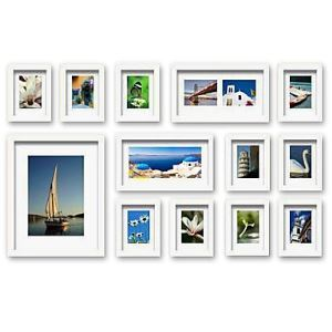 White Photo Wall Frame set Collection - Set of 13(Pictures Not Included)
