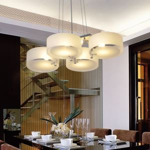 Acrylic Chandelier with 4 lights (Chrome Finish)