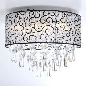 (For Sale) Elegant Flush Mount Crystal Ceiling Light with 4 Lights