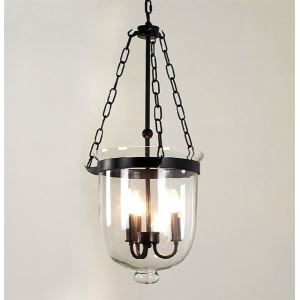 American Country Minimalist Wrought Iron Glass Pendant Light  Dining Room Lighting Ideas Living Room Bedroom Lighting