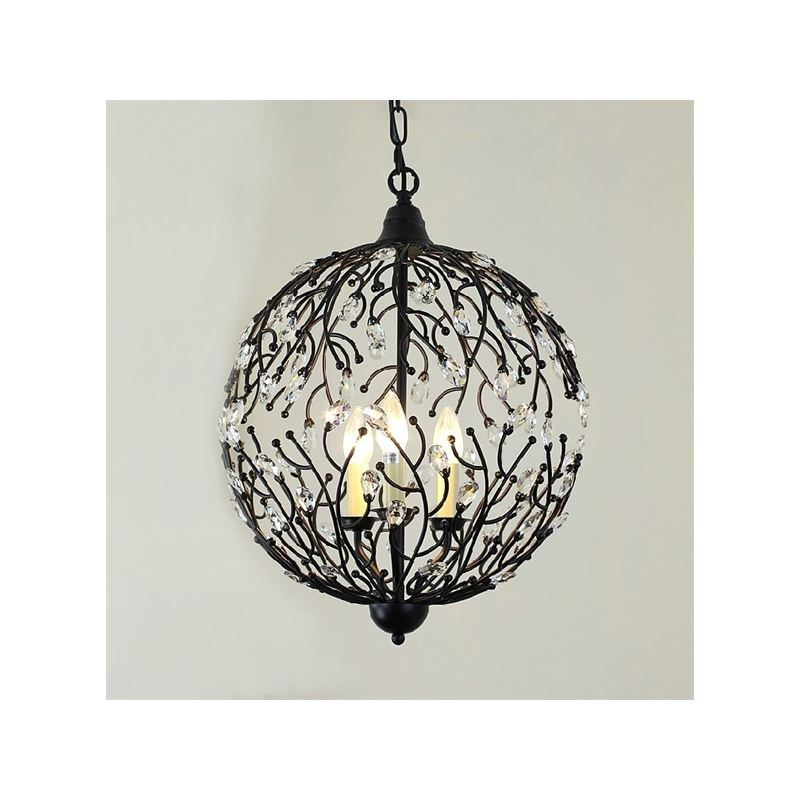 American Country Minimalist Pendant Light Wrought Iron Cages
