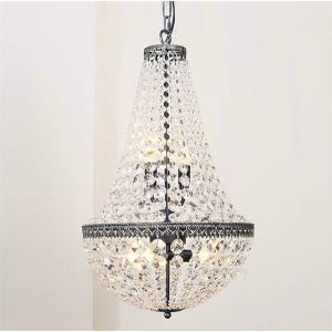 Modern Flush Mount with 5 Lights in Crystal Beaded Design