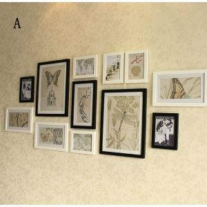 Modern Photo Wall Frame set Collection-Set of 12(Pictures Not Included)
