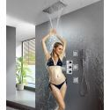 Luxury Over Head Thermostatic Mixer Shower System with Body Sprayer