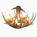 Small Antler Chandelier Rustic Cascade Featured Antler 4-light Fixture