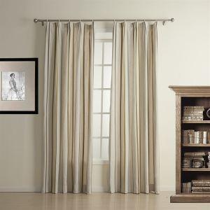 Energy Saving Curtain Jacquard Stripe Linen Custom Window Treatment-1321 ( One Panel )