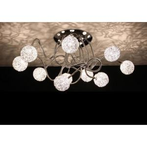 Artistic Flush Mounted Aluminum Ceiling Light with 10 Lights