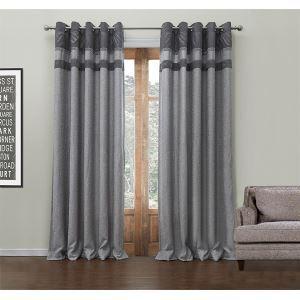 Energy Saving Curtain Modern Jacquard Polyester & Cotton Custom Curtain - 549 ( One Panel )