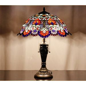 Tiffany Style Blue Jewel Table Lamp ( 0923-T53 )