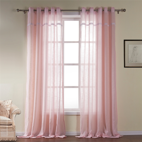 Baby Pink Nursery Sheer Curtain Custom Window Treatment