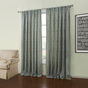 Energy Saving Curtain Custom Modern Jacquard Light Green Polyester Window Treatment - 57 ( One Panel )