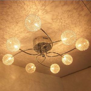 (In Stock) 20W G4 8-light Iron Flush Mount Light