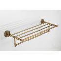 Antique Brass Bathroom Shelf With Towel Bar