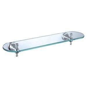 New Modern Chrome-colored Glass Shelf Single-layer Brass Bath Shelf
